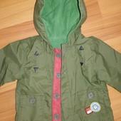 Куртка ветровка дождевичек на флисе