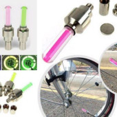 Светодиодная подсветка колес велосипеда, авто на ниппель.1шт./зелёный свет