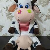 Стильная, говорящая коровка, 43см)