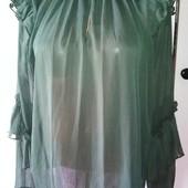 Зелёная шифоновая блуза H&M