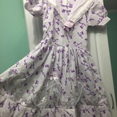 Новое платье для девочки на рост 146-152 см.,100% хлопок