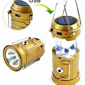 Большой фонарь кемпинговый фукция power bank заряд от сети/солнечная батарея! Цвет случайный