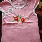 Новая футболка для девочки на 5 лет. 110-116 см