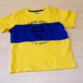 Классная футболочка для малчика lupilu, Германия, 98_104