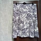 Фирменная новая красивая летняя юбка из льна вискозы и коттона р.22-24