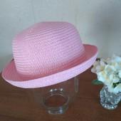 Соломенная шляпка на девочку ог 52-54 см