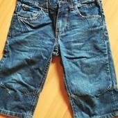 Шорты джинсовые удлинённые 146рост