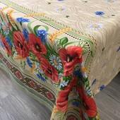 100*150 см Красивая практичная скатерть из хлопка Маки