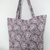 Красивая ажурная практичная сумка! Для прогулок, для покупок!