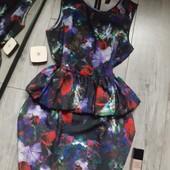 Бомбезное платье валан цветы очень багатое