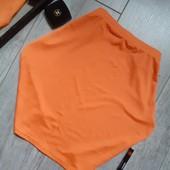 Ярко оранжевая похоже что неон мини юбка на лето