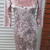Красивое велюровые платье. Размеры М, L, Xl