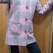 Пальто утепленное 134-146 рост