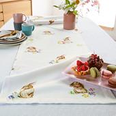 Яркий акцент !скатерть дорожка на стол, раннер из био-хлопка, tcm tchibo (германия) размер 180*40 см