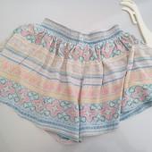 Стоп!!фирменные удобные яркие натуральные шорты- юбка от Zara