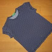 Benetton, футболка для девочки, на рост 100 110,Коттон 100%