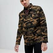 ☘ Куртка в камуфляжному стилі хакі від BoohoMan (Німеччина), розмір: L євро