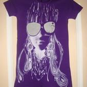 Шикарная футболка-туника, размер 42-44, смотрите замеры