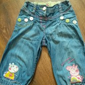джинсы бриджи Peppa оригинал Next на 2-3 года 98 см рост
