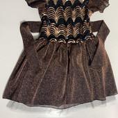 Нарядное платье для девочки Люрекс Пайетка