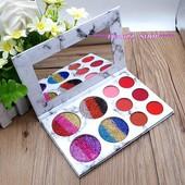 Палитра теней Glamierre Rainbow Your eyes glitter and matte 18 цветов!
