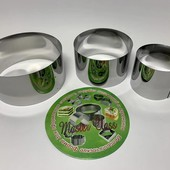 Набор кольцо кондитерское, кулинарные формы для формирования салатов, вырубки пельменей и вареников
