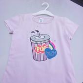 Стоп!! Фирменная удобная яркая натуральная футболка с паетками