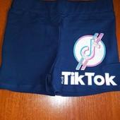 Последние р.176- смотрите замеры! Модные шорты TikTok темно синие! Турция! Отзывы!