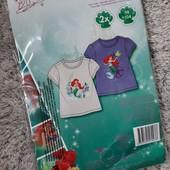 Disney Princess набор 2 шт. яркие хлопковые футболки Lidl Германия!