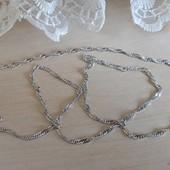 новинка! очень красивая и нежная цепочка, плетение сингапур 46 см, родий