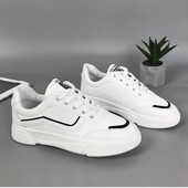 Шикарні білі кроссовки, качество!