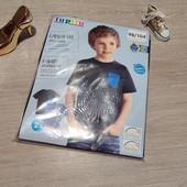 Германия! Коттоновые футболки с динозаврами, для мальчика! 98/104!