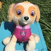 Скай Щенячий патруль 2 в 1 мягкая игрушка-рюкзак 32х26 см Nickelodeon !!!!! Состояние новой!!!!