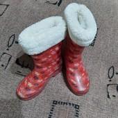 Сапоги резиновые на девочку, размер 31