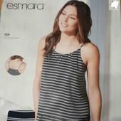 esmara.двухслойная топ майка на тонких брителях евро 40+6замеры