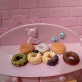 кукольная еда, пончики 3шт