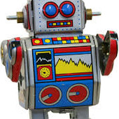 Заводной робот, ходит