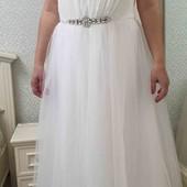 Весільна сукня великий розмір ПОГ 62см нова