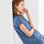 Блузка винтажная с вышивкой из био-хлопка от Tchibo (германия) размер 40 евро=46-48