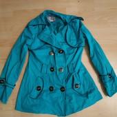 Плащ-курточка цвет бирюзовый , р. М-Л