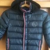 Куртка, холодная весна, 60%пух+40%перо, 6 лет 116 см. Campus. состояние отличное