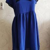 Красивое платье с воротником и бантом, свободный крой со сборкой на талии Atmosphere