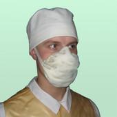Респиратор, маска защитная для лица на затяжках Лепесток-40 (ШБ-1)