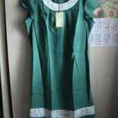 новое платье лен 56/58 батал замеры
