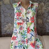 Новая, яркая, очень стильная блуза на пуговицах, Atmosphere, p. M-L