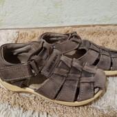 Кожаные босоножки Kiddy kick мальчику, размер 25 (по стельке 15,5 см)