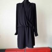 чорне плаття,груди на запах,погони. л/хл