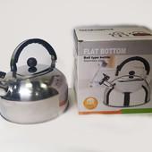 Чайник с свистком для газовой плиты Flat bottom ball type kettle 2 литра