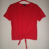 Не ношена,стильная футболка/топ с завязками 14 р