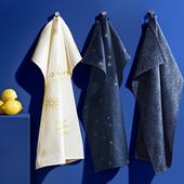 ☘ Лот 1 шт☘ Кухонне полотенечко з бавовни від Tchibo (Німеччина), р.: 50х70 см, нюанс